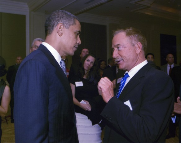 Terry Bean and President Obama