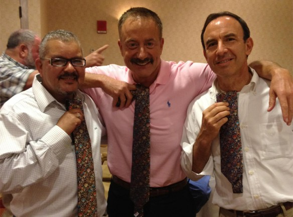 Barney Frank Wedding Party with their new ties Diego Miguel Sanchez Apr, Terry Bean, and Andrew Tobias